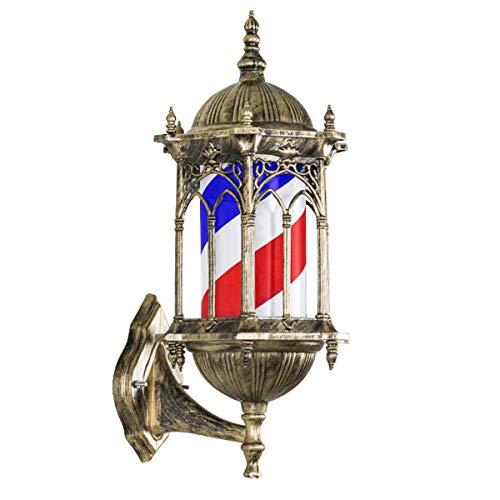 LED kappersstok Licht, Roterende haar salon logo licht kleine muur gemonteerde waterdichte paleis lantaarn