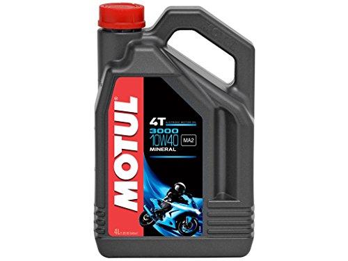 Motul 3000 4T 10W40 Mineralisches Motorenöl 4 Liter