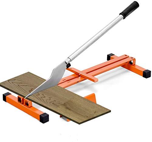 Nisorpa Cortador de suelos laminados de 210 mm de vinilo cortador manual de corte preciso diseño portátil con operación simple para revestimiento LVP SPC tablón de vinilo