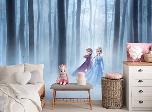 Fototapete Frozen 2 Disney Kinderzimmer Mädchenzimmer Wandbild B 366 cm x H 254 cm Kleister inklusive Wanddekoration Papier Poster Elsa Anna