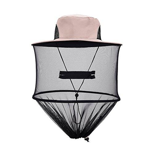 Generic Imkerhut Anglerhut für Bienenschutz Moskitoschutz, Outdoor Kopfschutz und Gesichtschutz Netzhut - Poloere