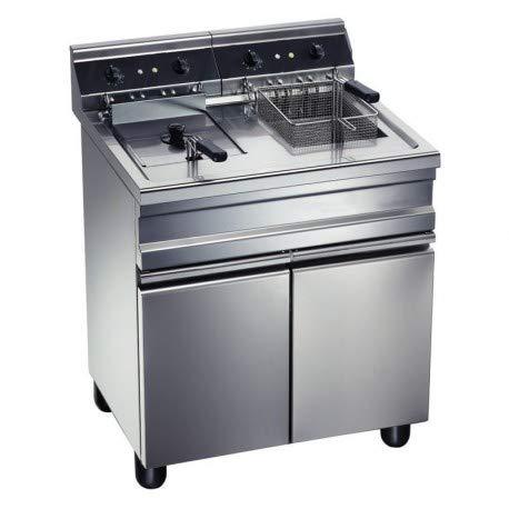 Friteuse électrique sur coffre - 2 bacs 20 litres chacun - Furnotel -
