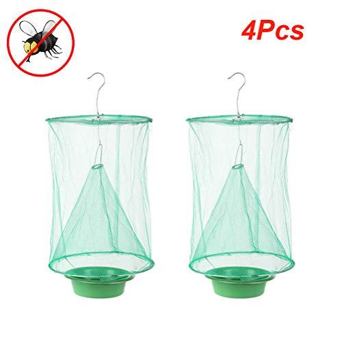 Calayu Effektive Fliegenfalle Faltbare Insektenfalle Fliegenfängerkäfig Ungiftige hängende Insektenfänger Drosophila-Falle für drinnen, draußen, Bauernhöfe, Garten, Park