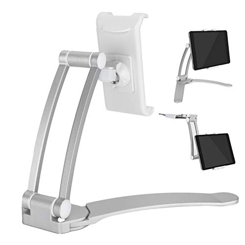 banapoy Tablet Mount, Durable Aluminum Alloy Desktop Tablet Bracket, Foldable for Home Use 7-10 Inch Screen Tablets