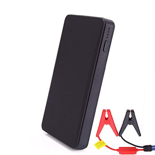 Tragbarer Mini Slim 20000mAh Auto Starthilfe Batterie Power Bank 12V Motorverstärker Akkuladegerät Autobatteriestarter,Black