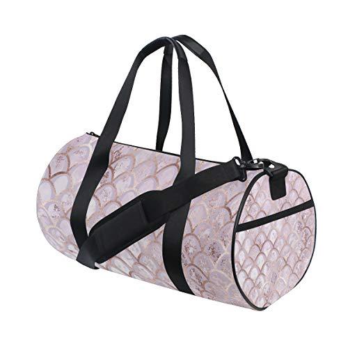 ZOMOY Sporttasche,Art Deco Muster Roségold,Neue Druckzylinder Sporttasche Fitness Taschen Reisetasche Gepäck Leinwand Handtasche