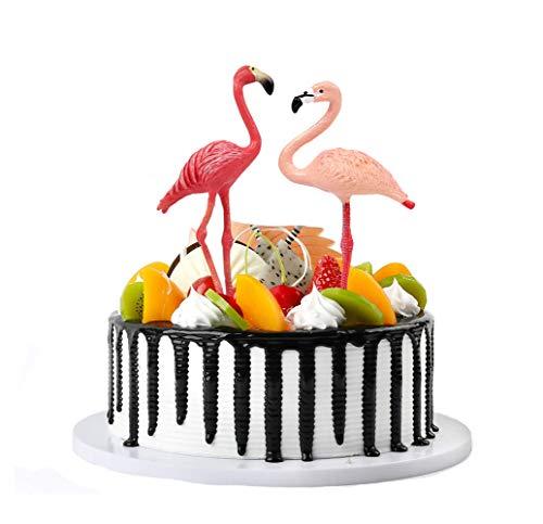 Flormoon Cijfers van vogels 2st realistische Flamingo's taart Topper verjaardagsfeestje decoratie benodigdheden educatief leren speelgoed voor jongens meisjes kinderen peuters