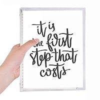 それが引用する経費の第一歩 硬質プラスチックルーズリーフノートノート