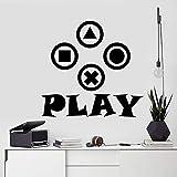 Etiqueta de la pared del juego Etiqueta de controlador de video Etiqueta de regalo de jugador Decoración de niño Etiqueta de habitación de niños Etiqueta de arte de pared de jugador A3 42X40CM