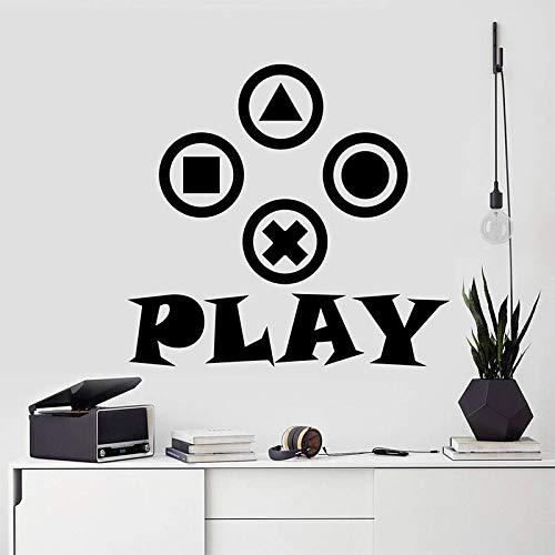 QQCYWZK Gamer Wandtattoo Video Controller Aufkleber Gamer Geschenk abnehmbare Aufkleber Junge Dekor Kinderzimmer Aufkleber Gamer Wand a 42x40cm