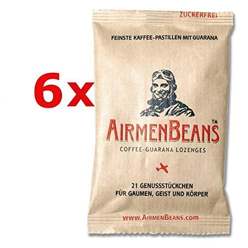 AirmenBeans Airmen Beans 6x Kaffee Pastillen Guarana 126 St, 6xDE1001