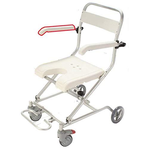 Z-SEAT Klappbarer Badesessel, rollstuhlgerechter Duschstuhl Tragbarer Badesessel mit bequemer Armlehne und Sitzfußstützen für Erwachsene behinderte ältere Kinder Schwangere