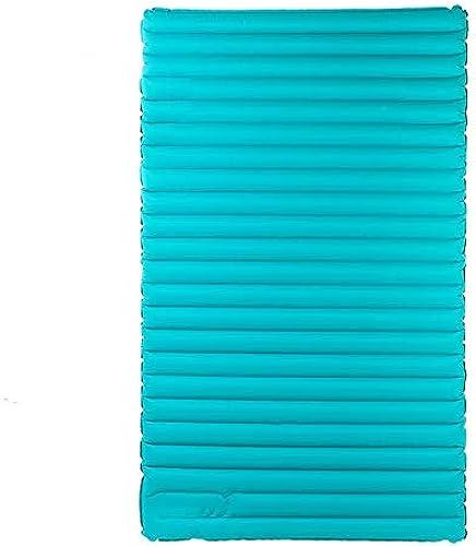 Amio Double Pression Ultra léger Coussin Gonflable Tente extérieure Tapis de Couchage Tapis épais lit Gonflable rembourré Moyen lit (Couleur   Light bleu)