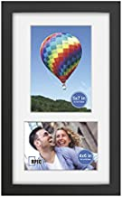 8x14 Soild Wood 2 Opening Picture frames with High Definition Glass Display 4x6 and 5x7 with Mat or 8x14 Without Mat for Wall Mounting Hanging Collage Photo Frame Black
