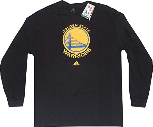 Golden State Warriors schwarz Primary Lange Ärmel T Shirt, Herren, schwarz
