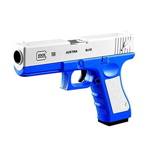 ハンドガン風 おもちゃ銃 拳銃型 ブローバック排莢再現 スポンジ弾 (タイプ1)