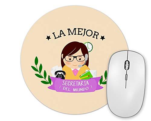 Alfombrilla De Ratón La Mejor Secretaria del Mundo Regalo Original Secretaria Forma Redonda 20 Cm