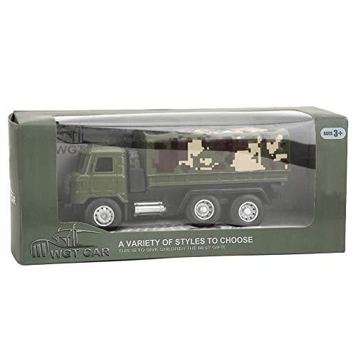 1:43 Escala Modelo de vehículo de transporte militar Aleación Coche Figura de acción Camión militar Tire hacia atrás Modelo de coche Juguete Simulación Manualidades Miniatura Decoración (camión)