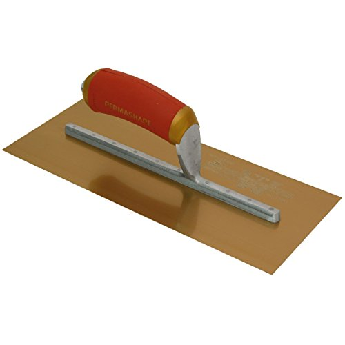 "Marshalltown Gold Stainless Steel Plastering Trowel 16"" x 5″"
