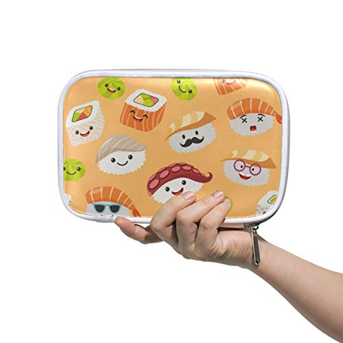BEETTY Pencil Case Cute Sushi Emoji Pencil Bag Box Makeup Brush Bag Pen Pouch for Girls Boys Kids Women School
