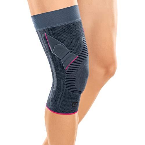 medi Genumedi PT - Patellabandage mit Haftband rechts | silber | Größe V extraweit | Kniebandage zur Verbesserung der Patellaführung