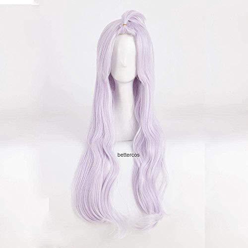 Fairy Tail Mirajane Strauss Cosplay pelucas larga luz prpura resistente al calor peluca de pelo sinttico + gorro de peluca