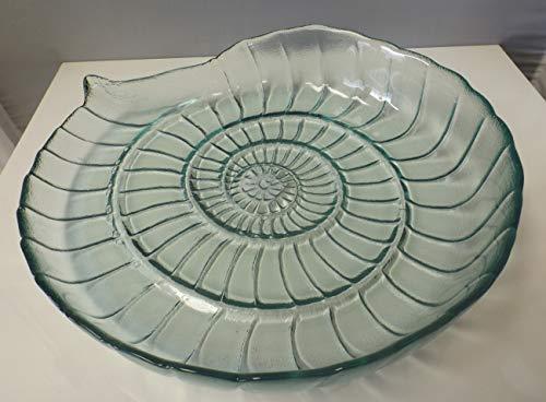 Casablanca Schale 87489 Nautilus 39cm Maritime-Deko Deko-Schale Glas-Schalen Muschel-Form Glasschale