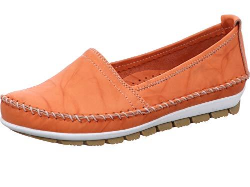 Gemini 003122-01 Schuhe Damen Ballerina Slipper Mokassins, Größe:40 EU, Farbe:Orange