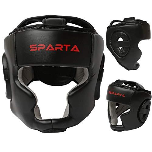 Kopfschutz für Boxen, Unisex, Senior, MMA, Kampfsport, Kick Face Fight Training Kopfbedeckung – Sparring Protector Gear Zero Impact, Schwarz, erwachsenengröße