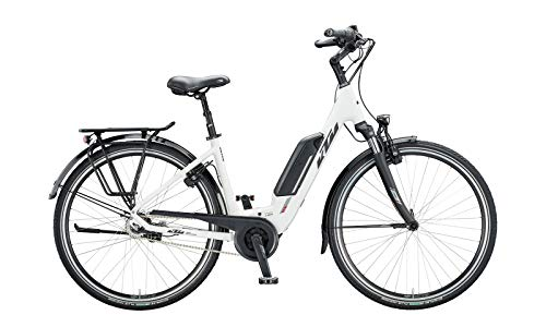 "KTM Macina Central 8 RT Bosch Trekking Elektro Fahrrad 2020 (28\"" Einrohr 43cm, White Matt/Black/Red)"