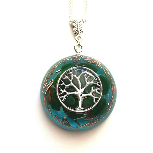 Orgonita árbol de la vida chakra reiki collar colgante protección de resina de orgón