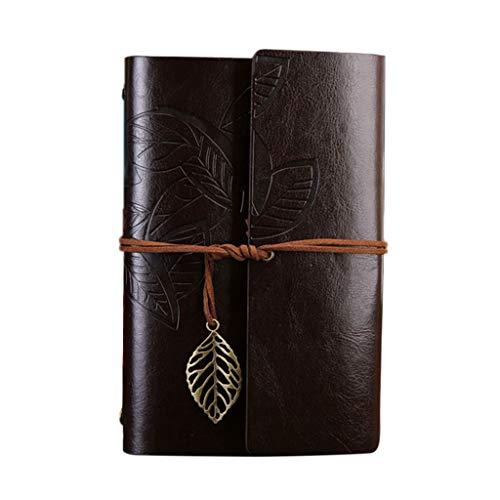 GUMEI Deja Diario de Escritura de Cuero, Cuaderno de Viaje Recargable, Cuaderno de bocetos de Arte
