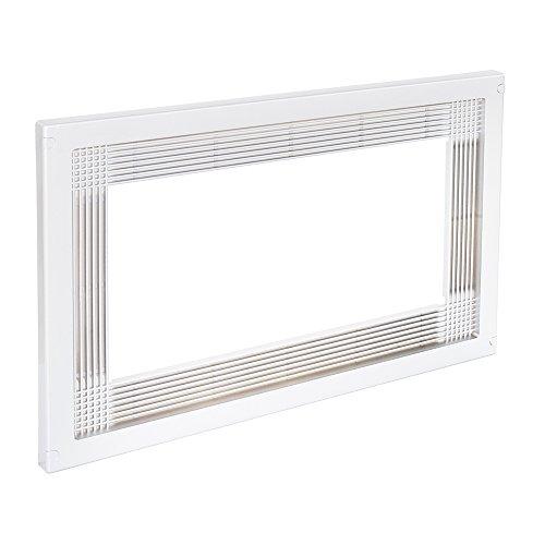 Emuca 8934715 Rahmen zum Einlassen von Mikrowellen in Möbel mit 60 cm aus weißem Kunststoff, 6