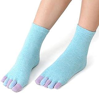algodón yoga gimnasio antideslizante masaje calcetines del dedo del pie agarre total calcetines talón