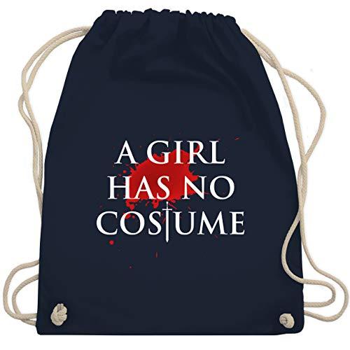 Shirtracer Halloween - A Girl Has No Costume Kostüm - Unisize - Navy Blau WM110 - Turnbeutel und Stoffbeutel aus Baumwolle
