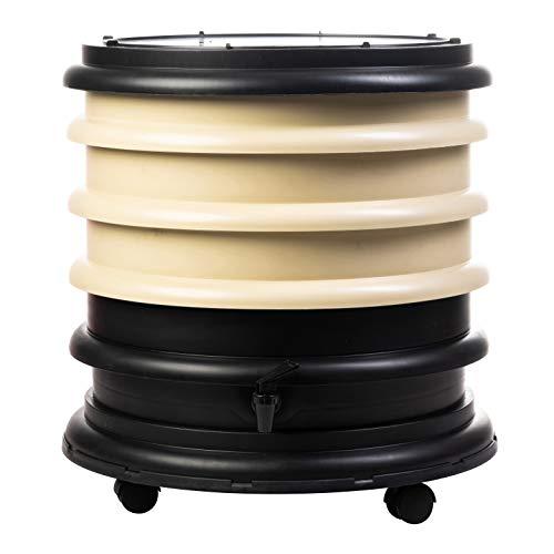 Lombricomposteur WormBox 3 plateaux Beige - 48 litres - Recyclez vos déchets organiques en engrais pour vos plantes 🌻