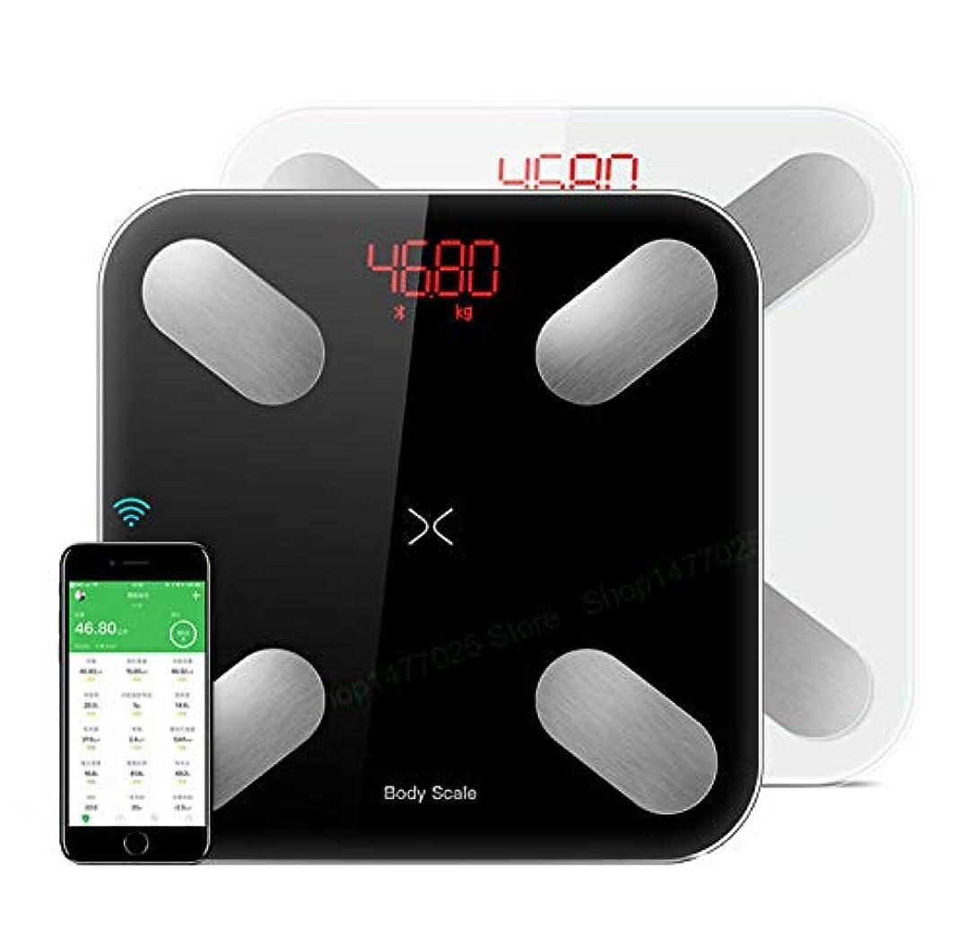 通訳スローアラビア語体重のためのiOS&Androidのアプリで体脂肪体重計スマートデジタル浴室BMIスケール高精度ワイヤレス体組成計ヘルスモニタ