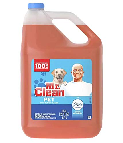 Mr. Clean All Purpose Multi-Surface Pet Liquid Cleaner with Febreze Odor Defense | Has Odor Converters | Eliminates Odor,128 Ounce Bottle