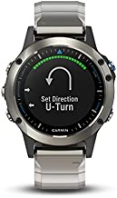 Garmin quatix 5 Sapphire, Multisport Marine Smartwatch, Comprehensive Boat Connectivity, Stainless Steel/Metal Band
