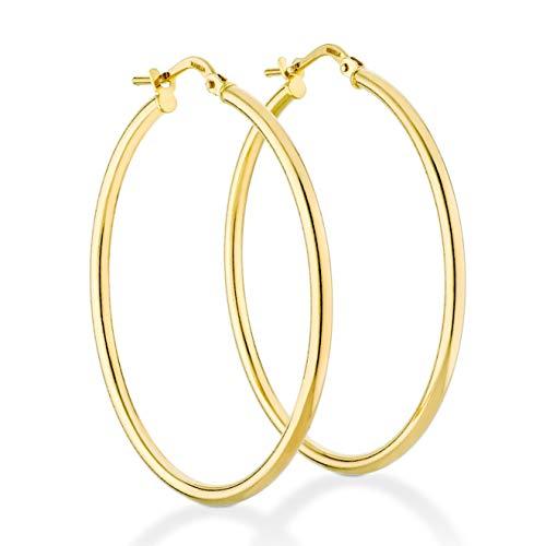 14k gold italian hoop earrings - 4