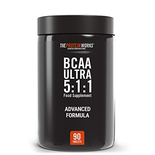 THE PROTEIN WORKS | BCAA Ultra 5:1:1 | 1000 mg | Revolutionary 5:1:1 Ratio| Aids Recovery & Lean Muscle Growth | Premium Grade | Branched Chain Amino Acids | 90 Tablets