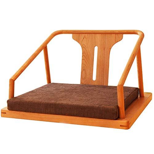 ZTBXQ Home Küche Schlafzimmer Massivholz Lazy Sofa Tatami Chinese Ancient Rhyme Kleines Schlafsofa Erker Einfach Einfacher bequemer Stuhl 60 mal; 50 cm (Farbe: