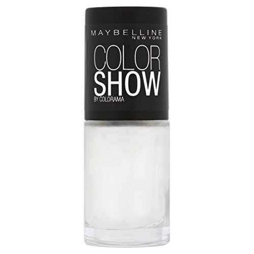 Maybelline New York Make-Up Nailpolish Color Show Nagellack Marshmallow / Ultra glänzender Farblack in leuchtendem Weiß, 1 x 7 ml