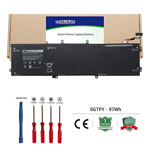 6GTPY Laptop Battery (11.4V 97Wh) Compatible with Dell XPS 15 9560 9550 Precision 5510 5520 M5520 OEM Quality