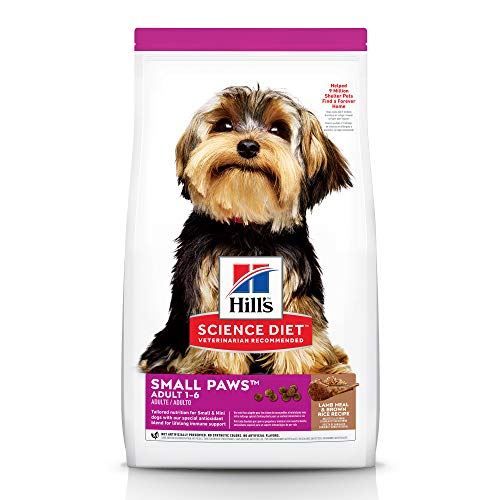 Hill's Science Diet Dry Dog Food, Adult, Small Paws for Small Breed Dogs, Lamb Meal & Brown Rice, 15.5 LB