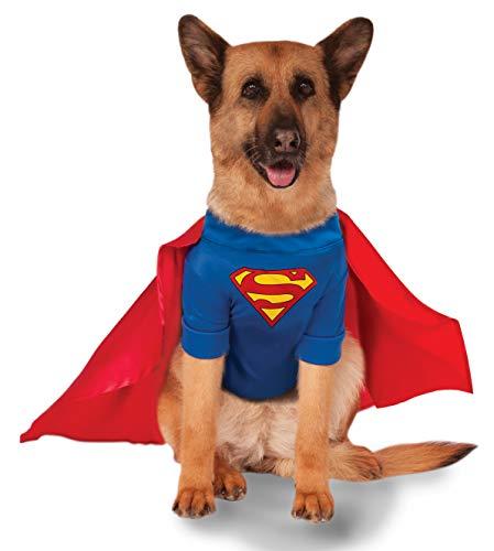 Disfraz Oficial de Superman DC Comic de Rubie'S para Perro, Regalo de superhéroe, tamaño XXL