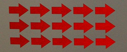 """easydruck24de Reflektierendes Aufkleberset """"Pfeile, 15 Stück, rot"""", Reflex_036 rot, 3,5x2,5cm. Reflexion, Leuchtaufkleber, Aufkleber für Bike, Helm, Auto, Sicherheit für Kinder"""