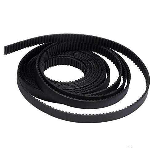 without 1PC 3D Printer Parts 2/5M GT2 Synchronous Timing Belt Wide 6mm 2GT-6mm For 3D Printer RepRap Mendel 2GT Belts Pulley Accessories (Color : Black, Size : 2M)