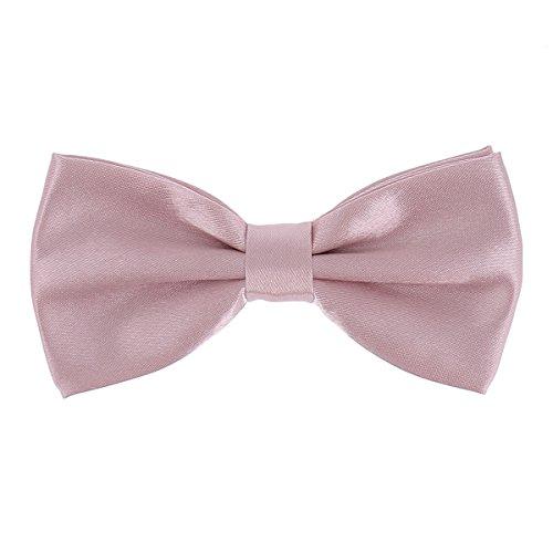 Krawatte, Fliege für Herren und Jungen, Tasche für Kostüm und Manschettenknöpfe, altrosa, altrosa, puderrosa – Hochzeit Gr. Einheitsgröße, Schleife