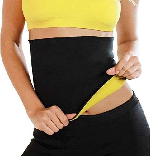 Geagodelia Cintura Entrenador Fajas Reductoras Adelgazantes Cinturón Elástico Neopreno de Sudor de Deporte Fitness Unisex Hombre y Mujer para Proteger Lumbar (Negro, L)